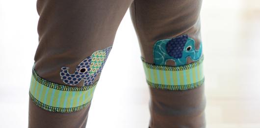 Elefantenfüße - Leggins mit Elefantenapplikation