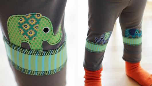 Elefantenfüße - Detail Elefantenapplikation