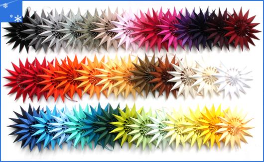 Neue Farben Papiersterne 2015
