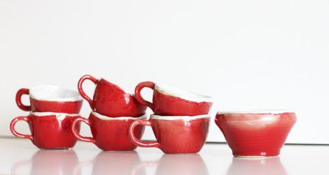 Espresso-Set: Tassen mit Zuckerschale