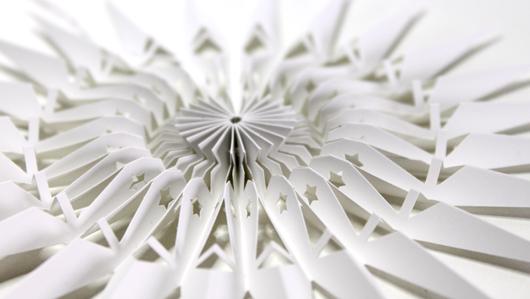 Große Papierstern Schneeflocke