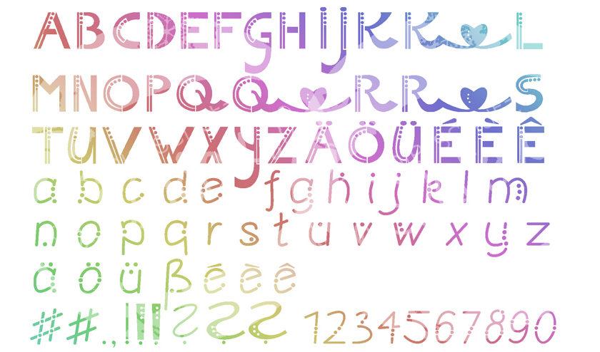 Schrift optimiert für das Plotten mit Papier